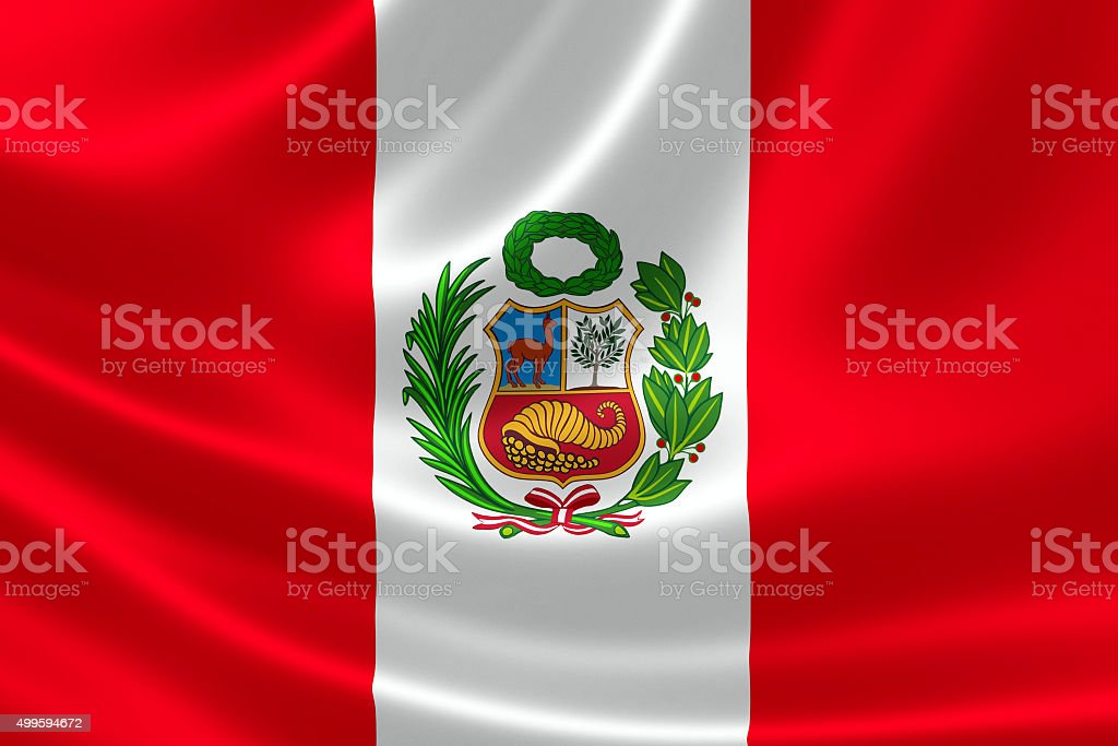 Peru's Flag stock photo