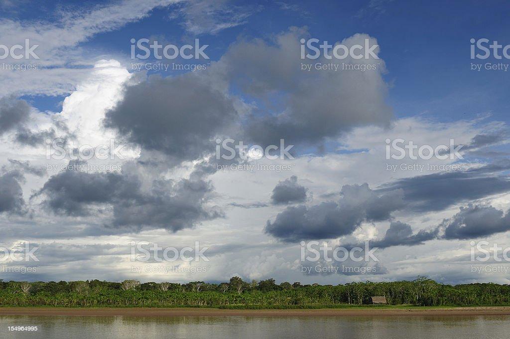 Peruvian Amazonas, Maranon river landscape royalty-free stock photo