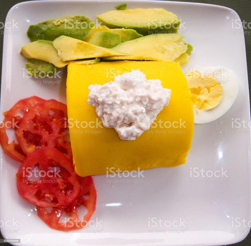 Peruvian Causa Dish stock photo