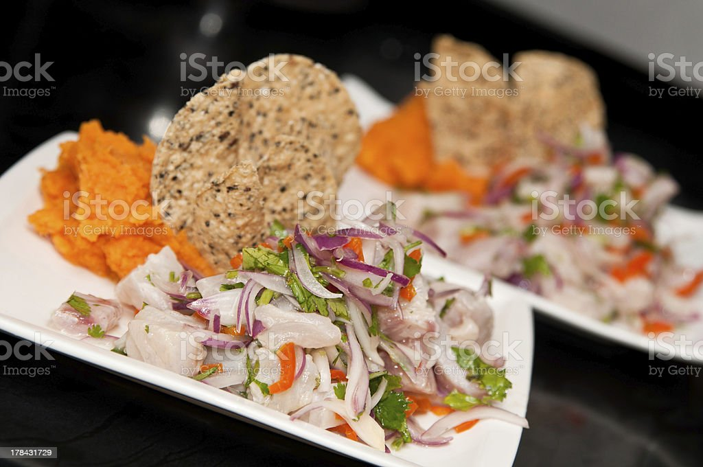 Peruvian Ceviche stock photo