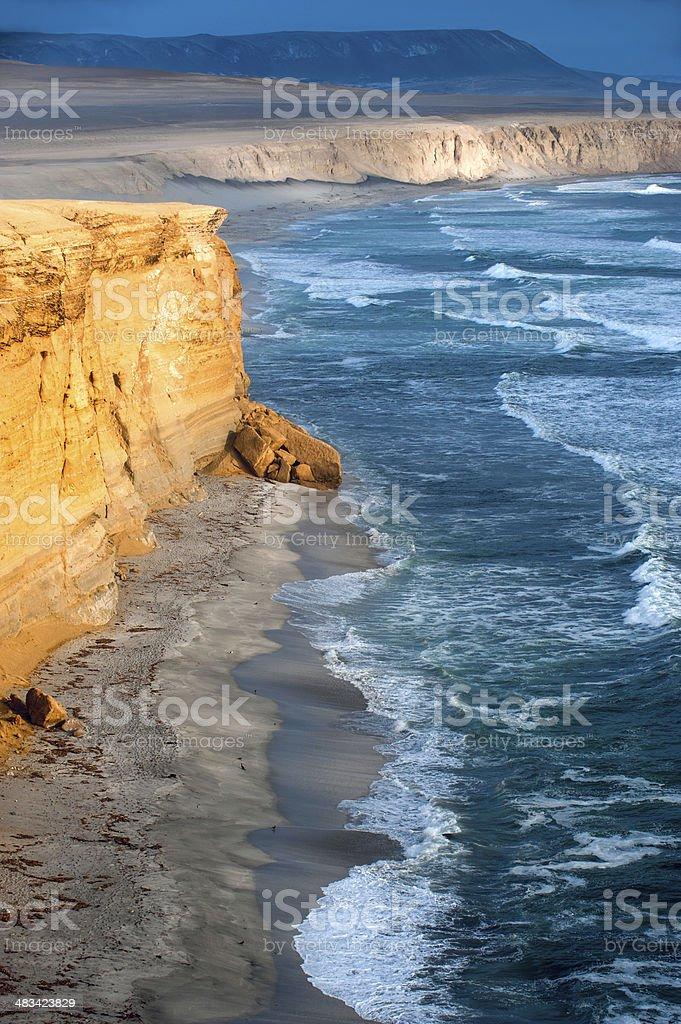 Peruvian Coastline stock photo