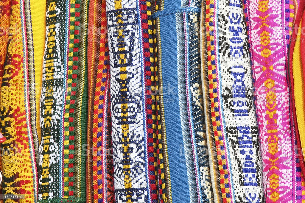Peruvian coloured Textile Patterns royalty-free stock photo