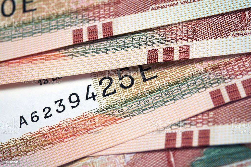 Peruvian Currency stock photo