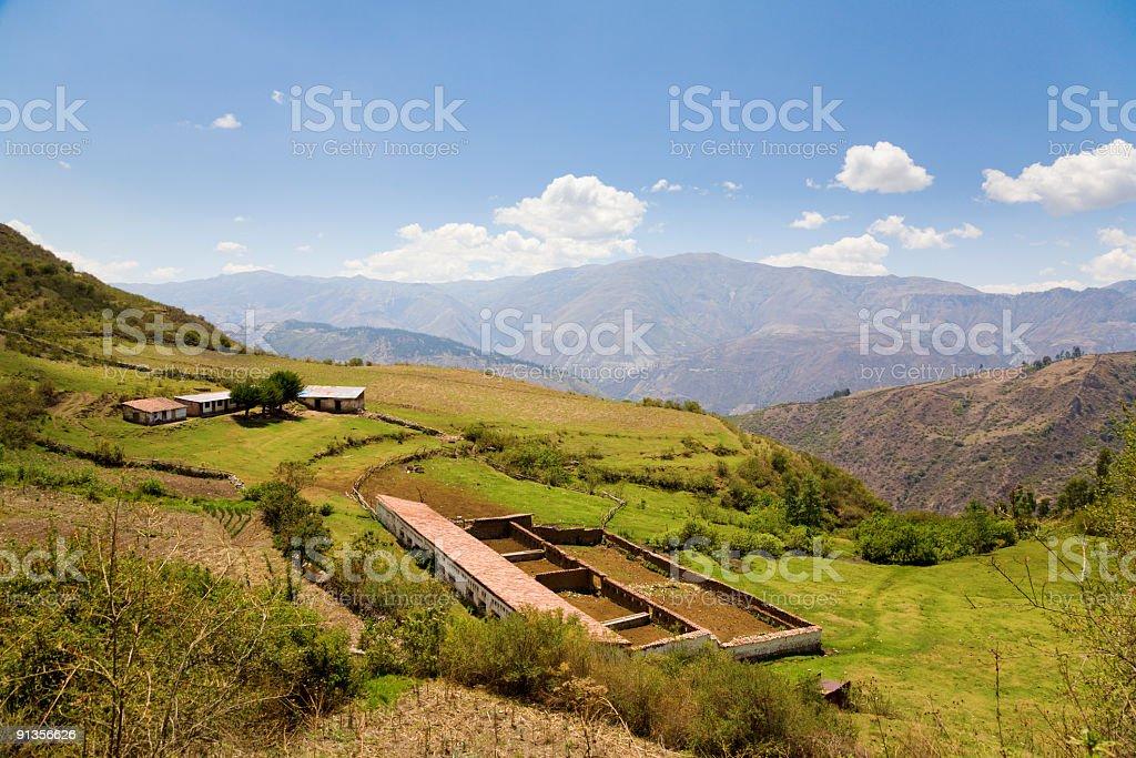 Peruvian farm stock photo