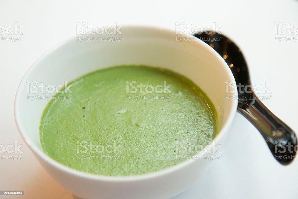 Peruvian green sauce stock photo
