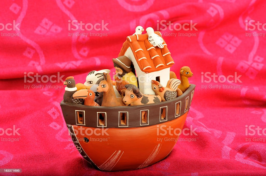 Peruvian handicraft. The Noah's Ark royalty-free stock photo