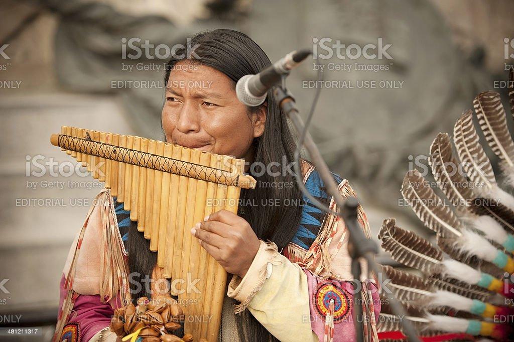 Peruvian Musician stock photo