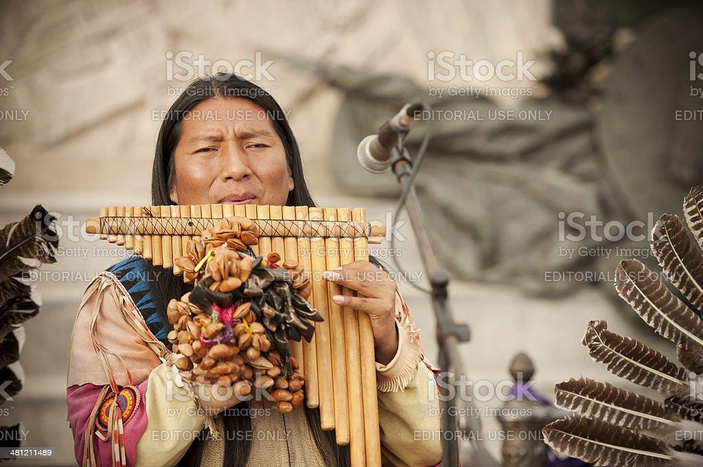Peruvian Musician royalty-free stock photo