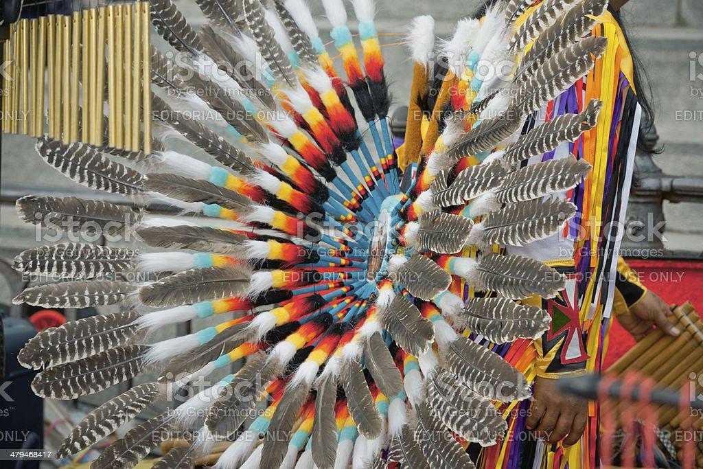 Peruvian Musicians at Venetian Carnival II royalty-free stock photo
