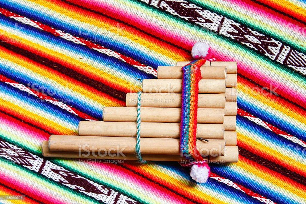 Peruvian pan flute stock photo