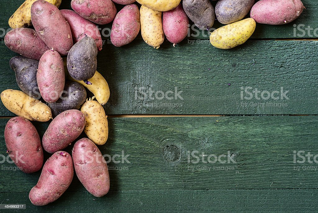 Peruvian potato frame stock photo
