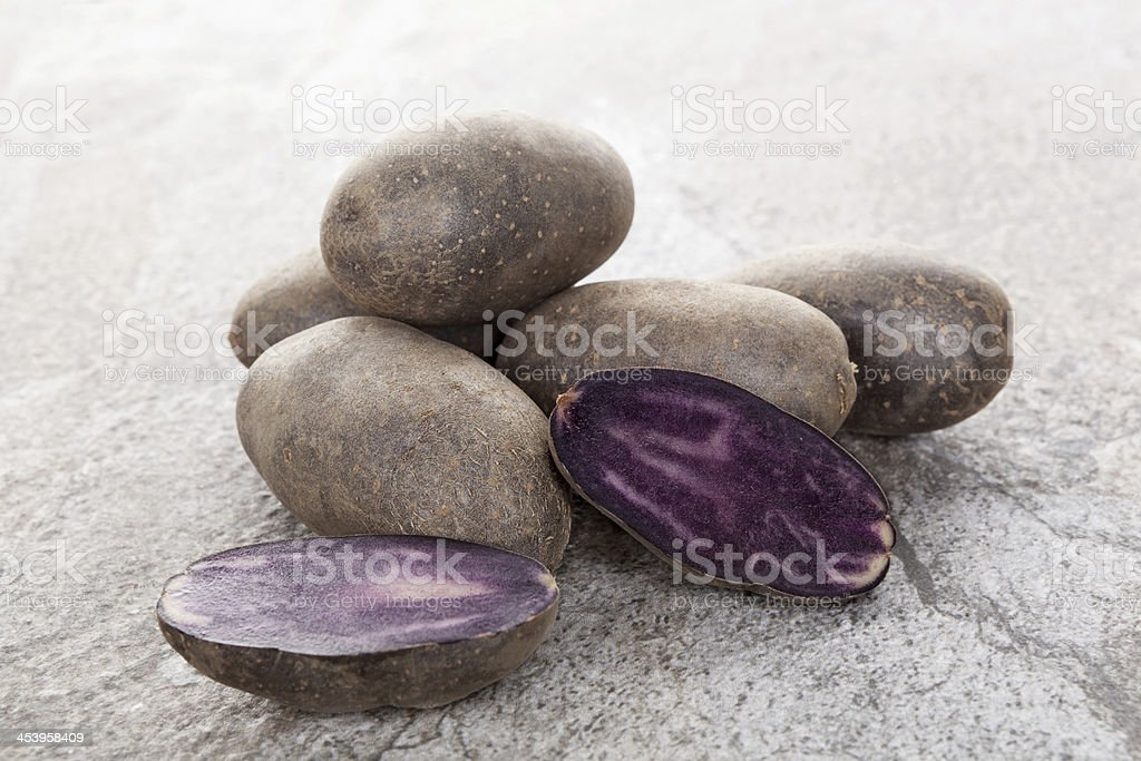 Peruvian Potato. stock photo