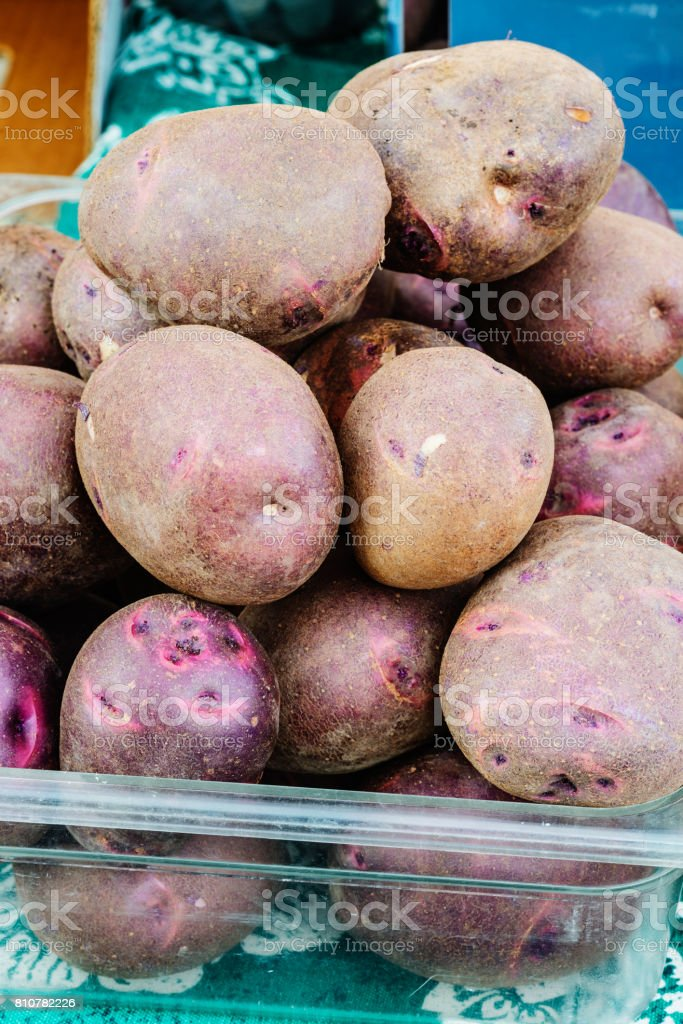 Peruvian potatoes on sale stock photo