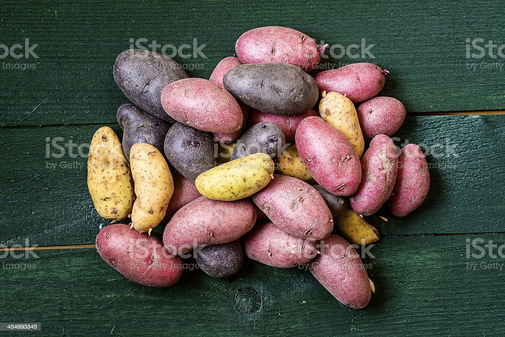 Peruvian potatoes stock photo