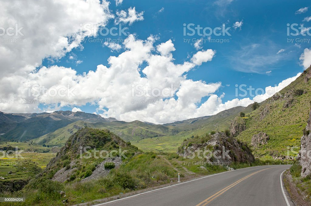 Peruvian Roadway Outdoors stock photo