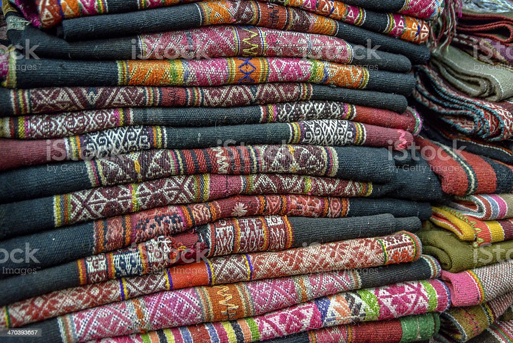 Peruvian Weavings stock photo