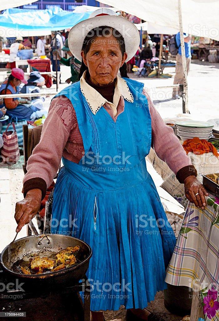 Peruvian woman portrait stock photo