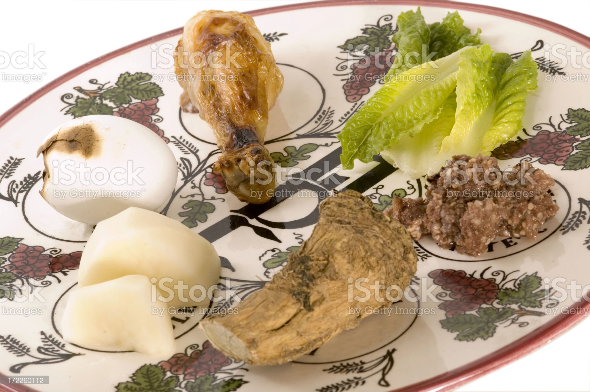 pesach seder plate 2 royalty-free stock photo