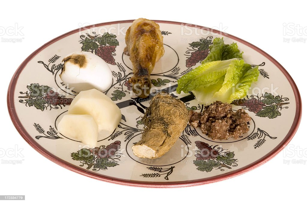 pesach seder plate 4 royalty-free stock photo