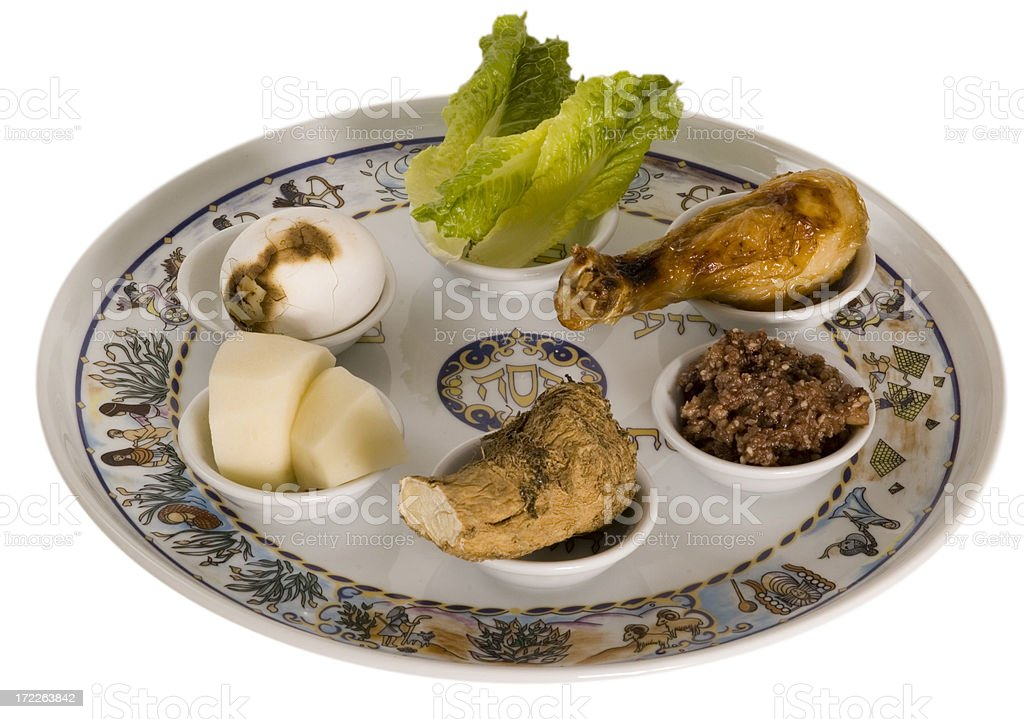 pesach seder plate royalty-free stock photo