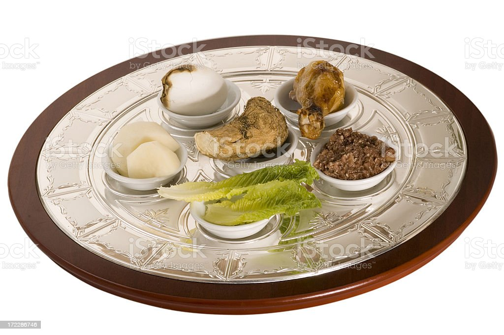 pesach seder plate1 royalty-free stock photo