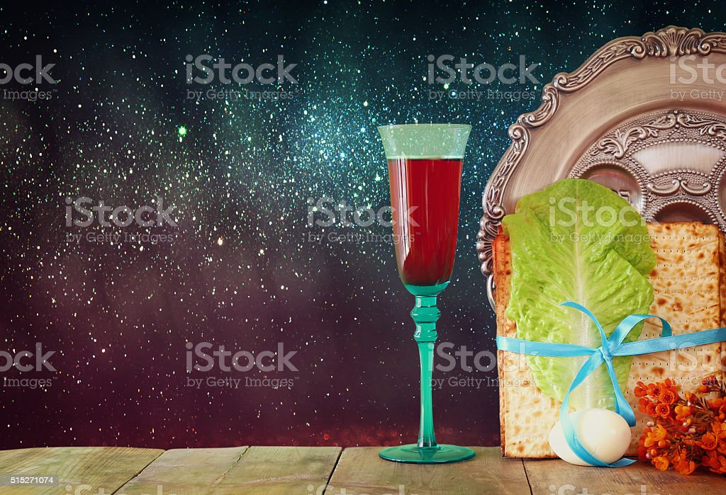 Pesah celebration concept (jewish Passover holiday) stock photo