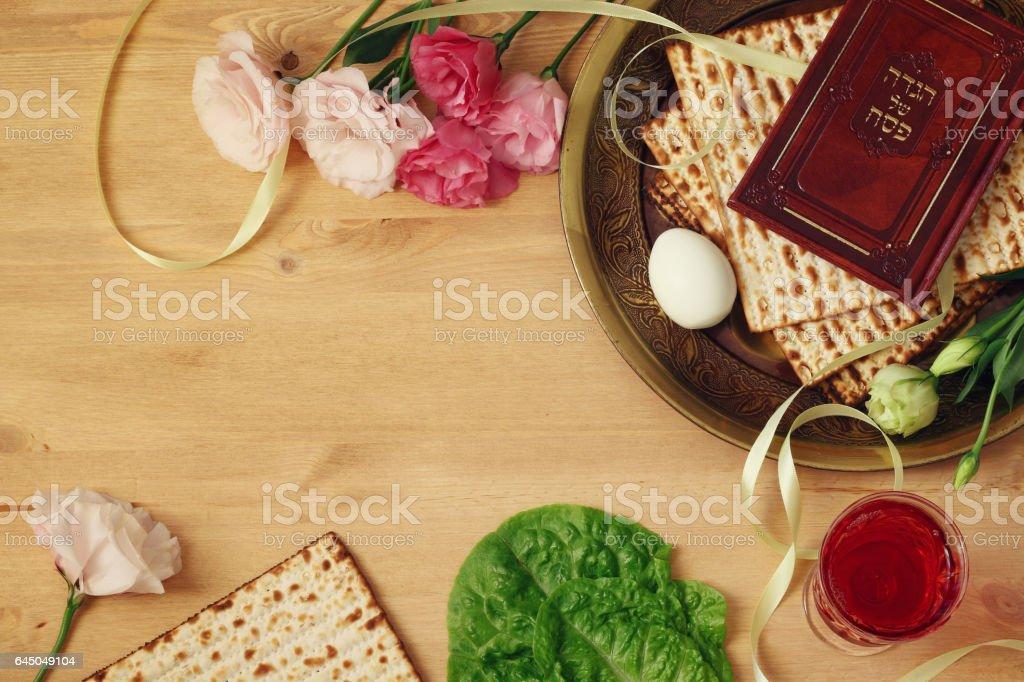 Pesah celebration concept (jewish Passover holiday) stock photo
