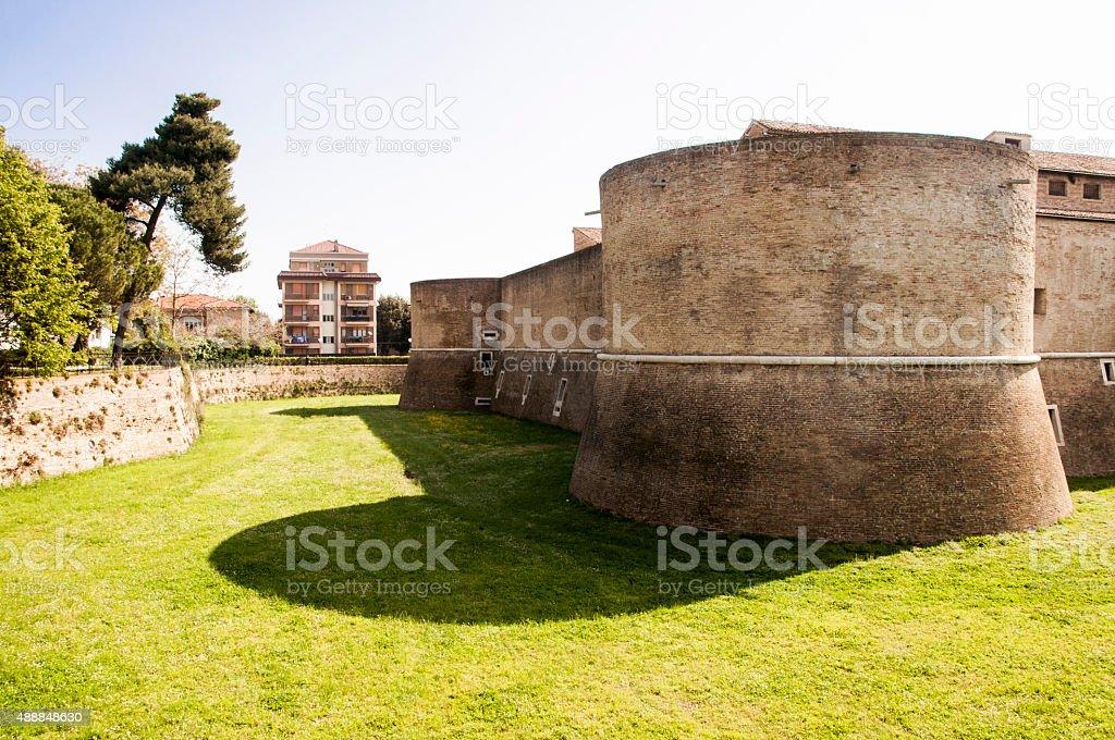 Pesaro Rocca Costanza stock photo