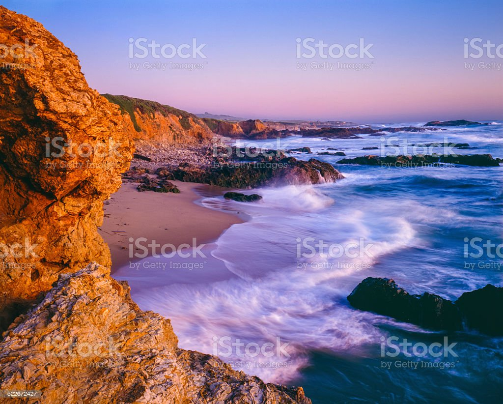 Pescadero State Beach seacape,beach,surf,CA stock photo