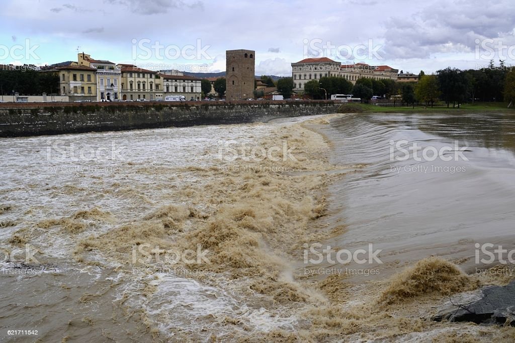 Pescaia, Arno river in Florence, Italy stock photo