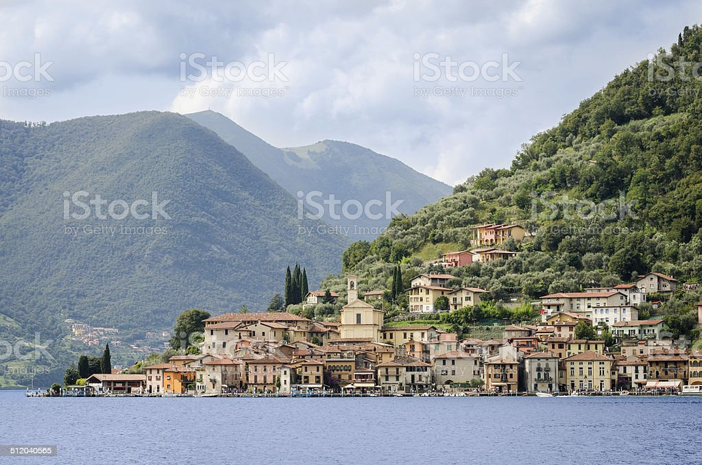 Peschiera Maraglio, Lake Iseo (Italy) stock photo