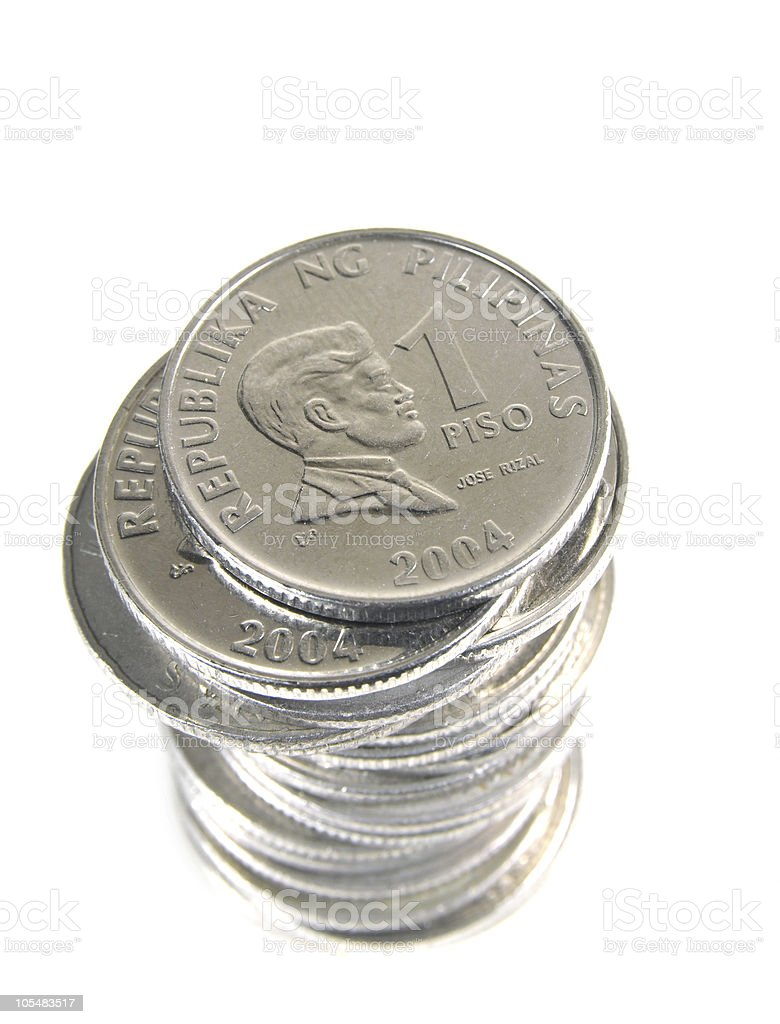 Peso Coins stock photo