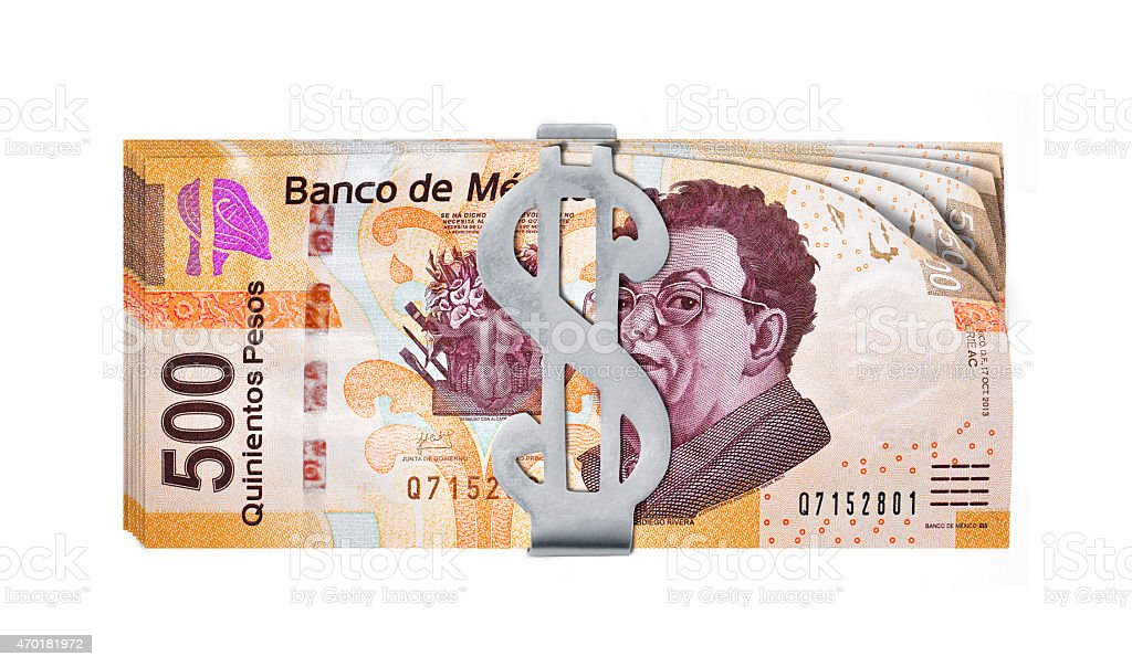 Peso holder stock photo
