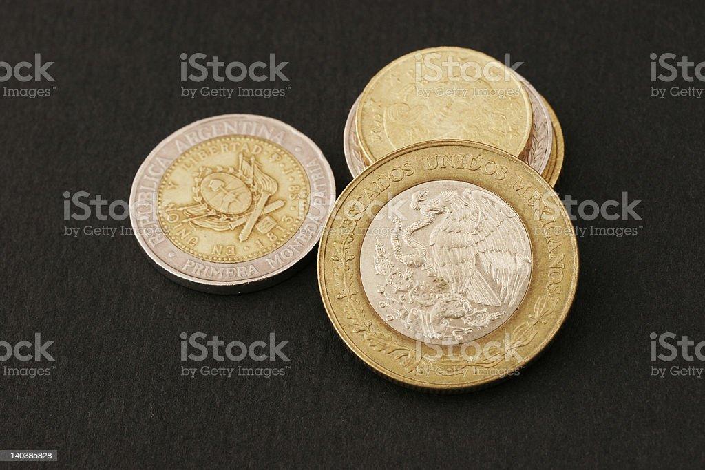 Pesos from Argentina royalty-free stock photo