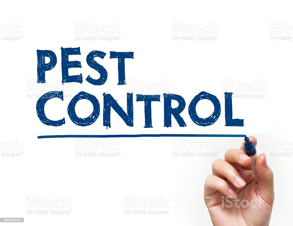 Pest control felt tip pen concept (Click for more) stock photo