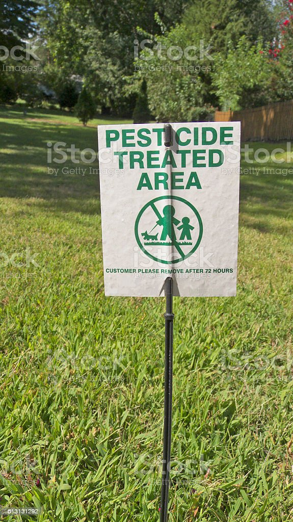 Pesticide Sign. stock photo