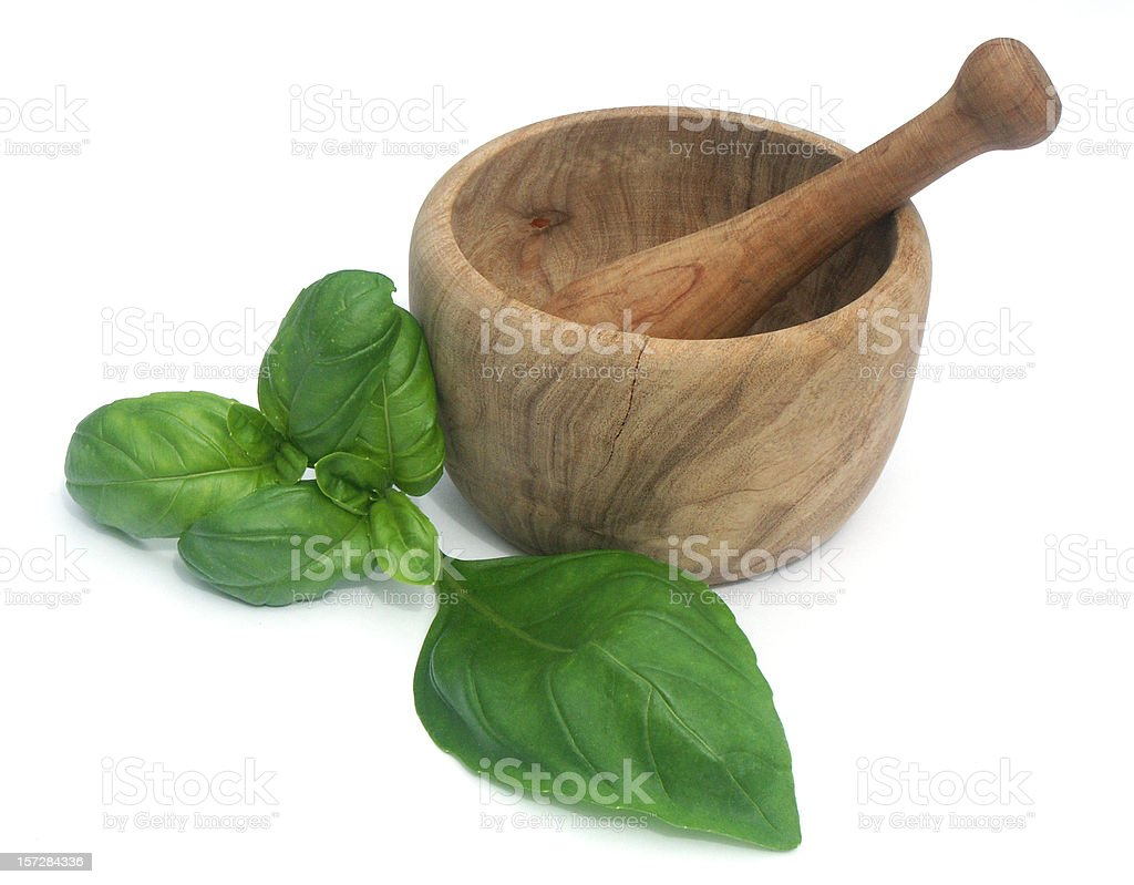 Pestle and mortar royalty-free stock photo