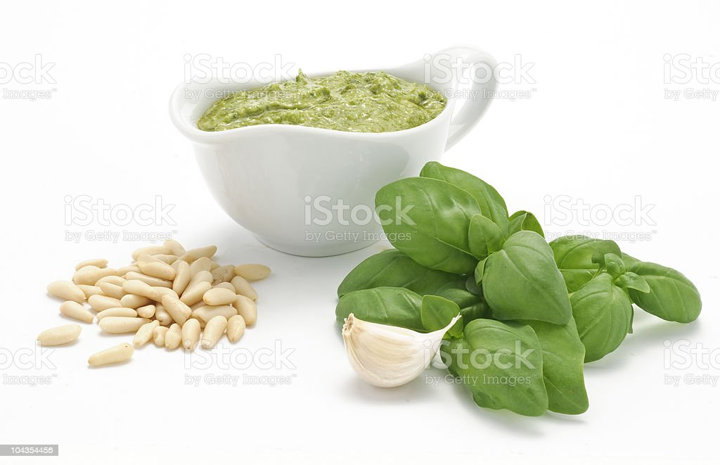 Ambientazione pesto alla genovese royalty-free stock photo