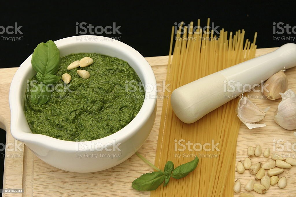 Pesto close up royalty-free stock photo