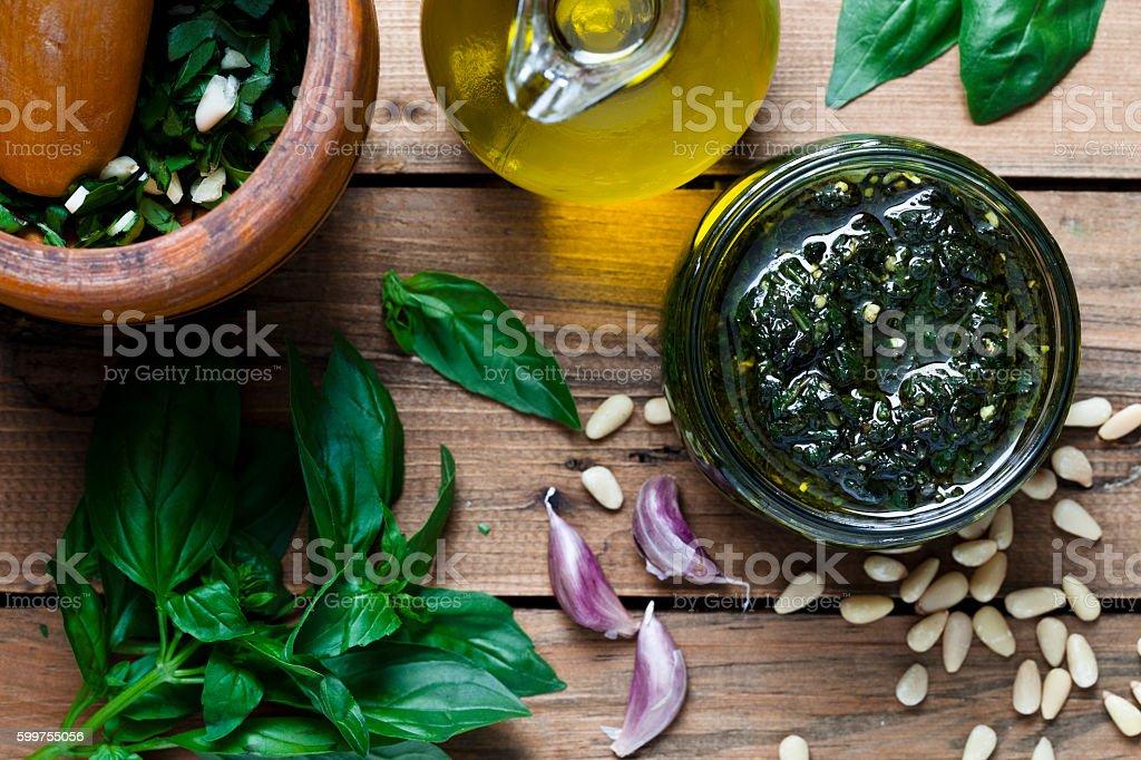 Pesto genovese stock photo