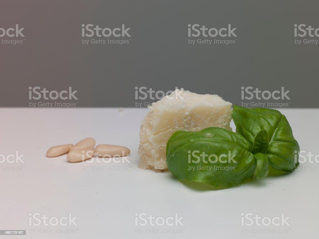 Pesto genovese sauce stock photo