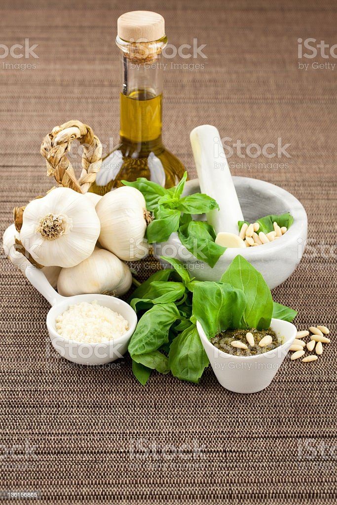 Pesto genovese seasoning royalty-free stock photo