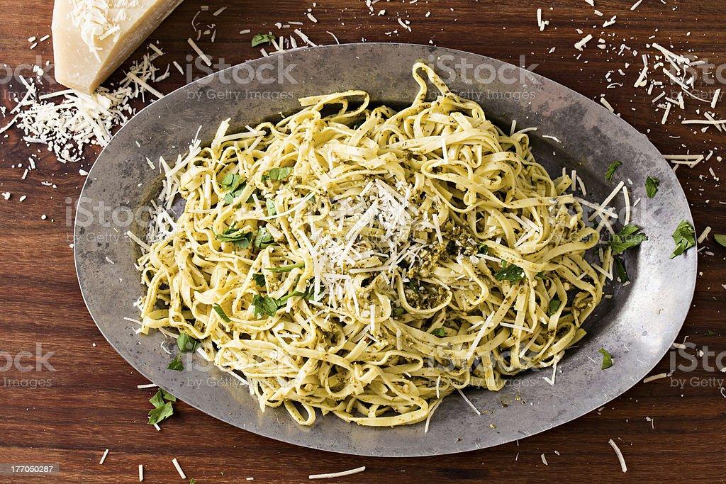 Pesto Pasta stock photo