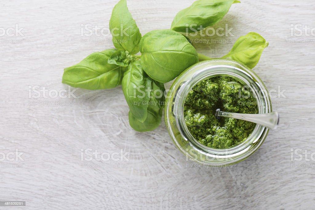 Pesto verde stock photo