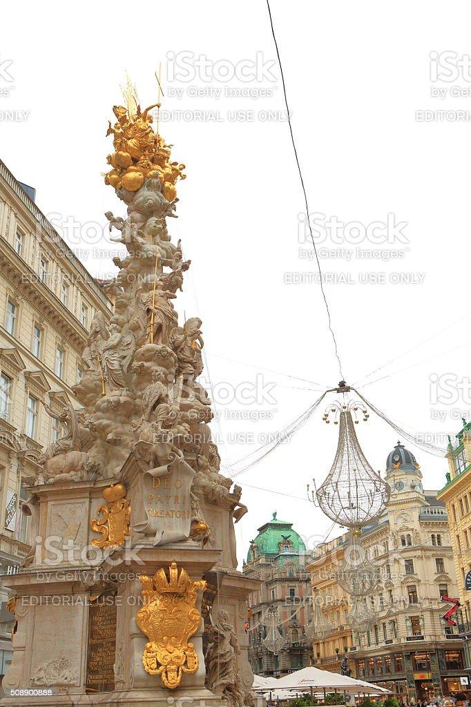 Pestsaule in Vienna stock photo