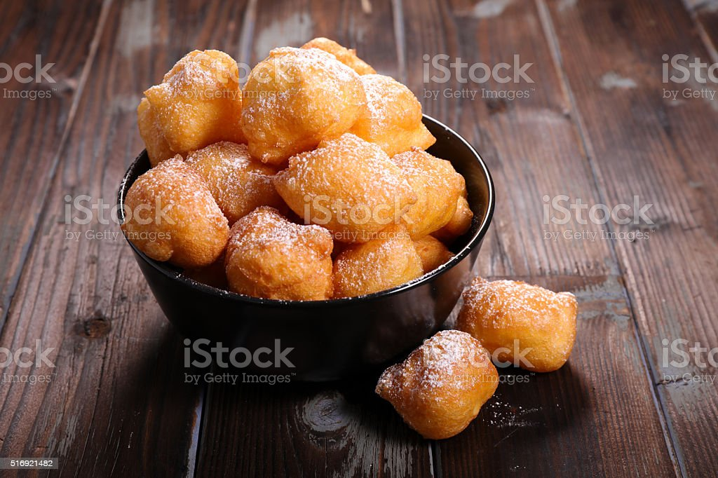 'pet de none', french donut stock photo