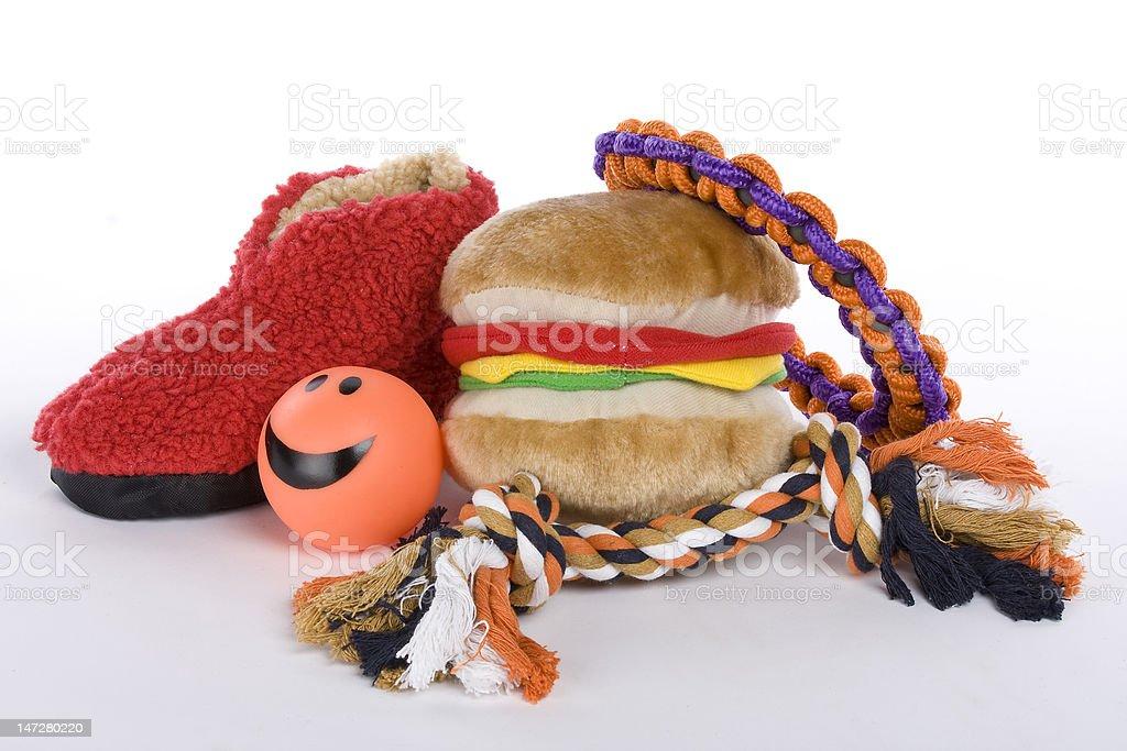 pet dog toys stock photo
