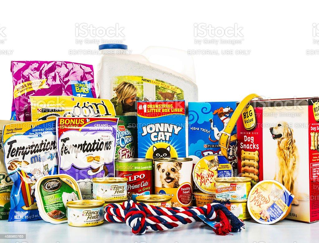 Pet Food Assortment stock photo