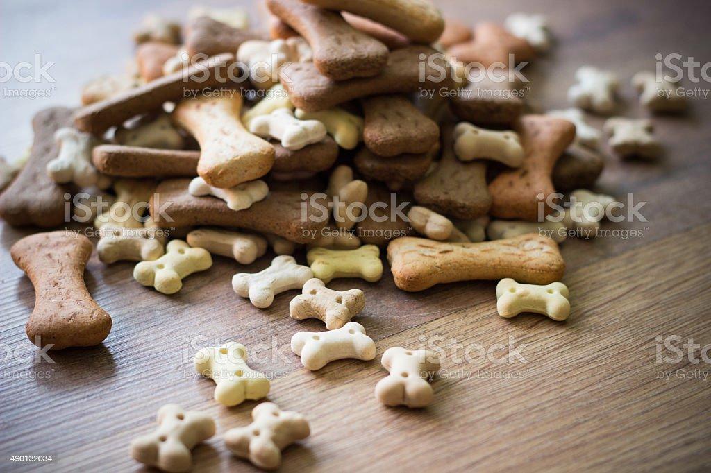 Pet food, dog bones stock photo