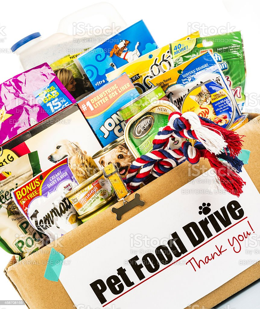 Pet Food Drive stock photo